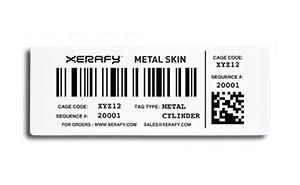 Mercury Metal Skin Label